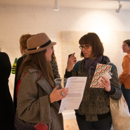 Visitors to the Private View