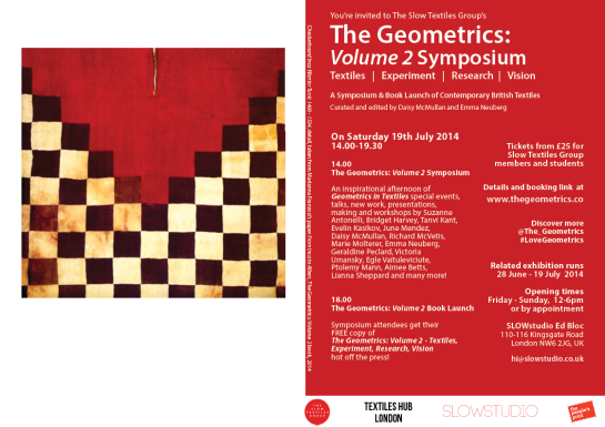 Symposium Flier_The Geometrics Volume 2