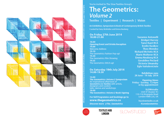 The Geometrics Volume 2 flier
