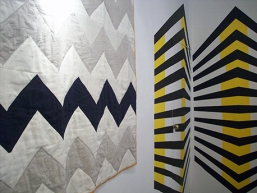 Katherine May's patchwork with Camille Walala's installation
