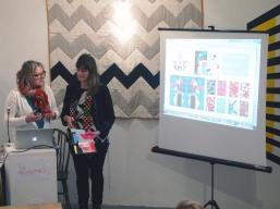 Melanie Bowles and Emma Neuberg present The People's Print Postmodern Play at The Geometrics Symposium