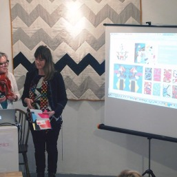 Melanie Bowles and Emma Neuberg present The People's Print Postmodern Play at The Geometrics Symposium