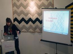 Emma Neuberg introduces Marianna Fransozi's presentation at The Geometrics Symposium