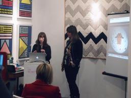 Marie O'Connor and Emma Neuberg at The Geometrics Symposium
