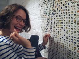 Interpsychic stitchers at The Geometrics Private View